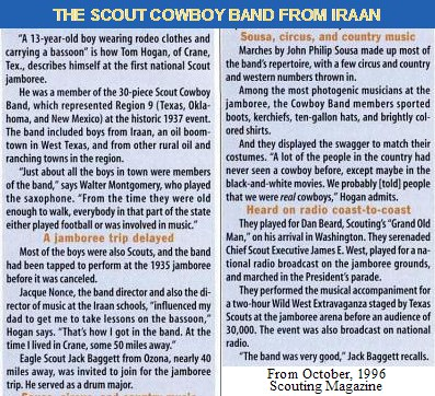 The Scout Cowboy Band from Iraan